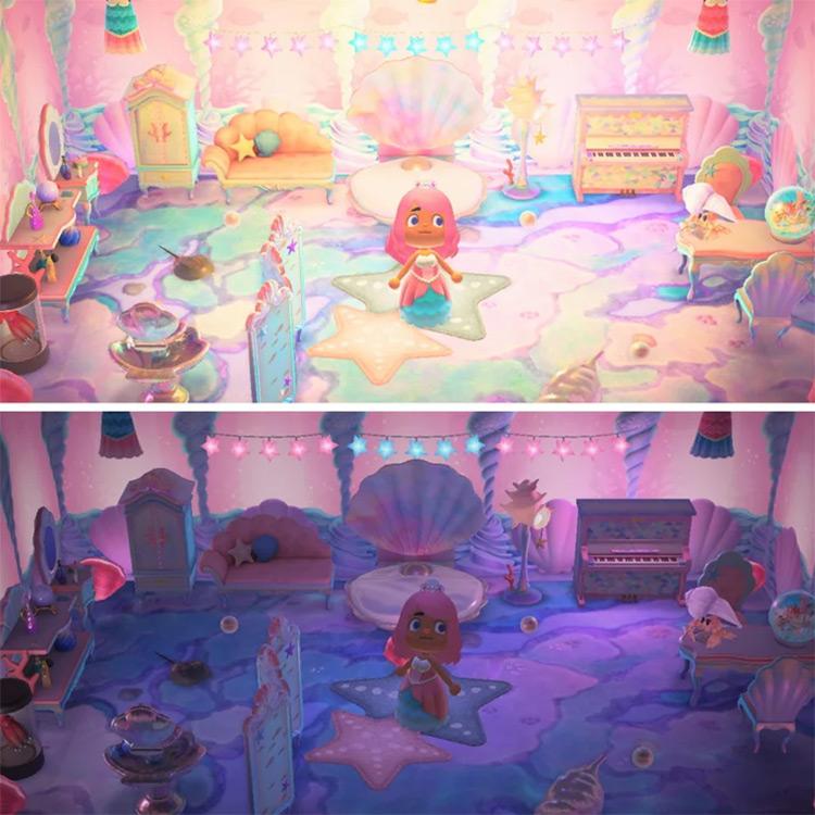Mermaid Princess Bedroom Idea for ACNH