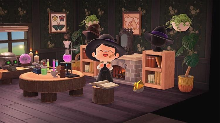 Witch & Alchemist Lab Interior for ACNH