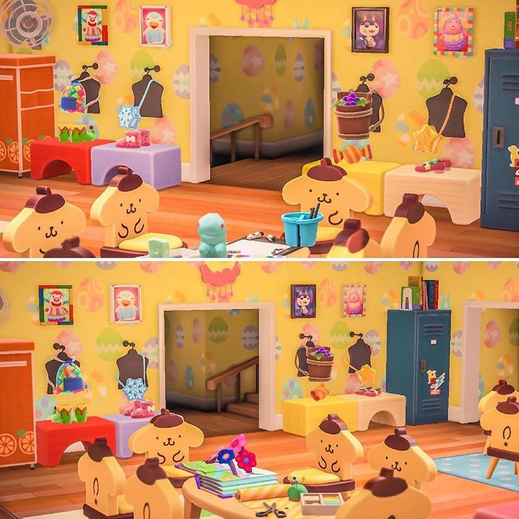 Preschool kidcore room design in Animal Crossing: New Horizons