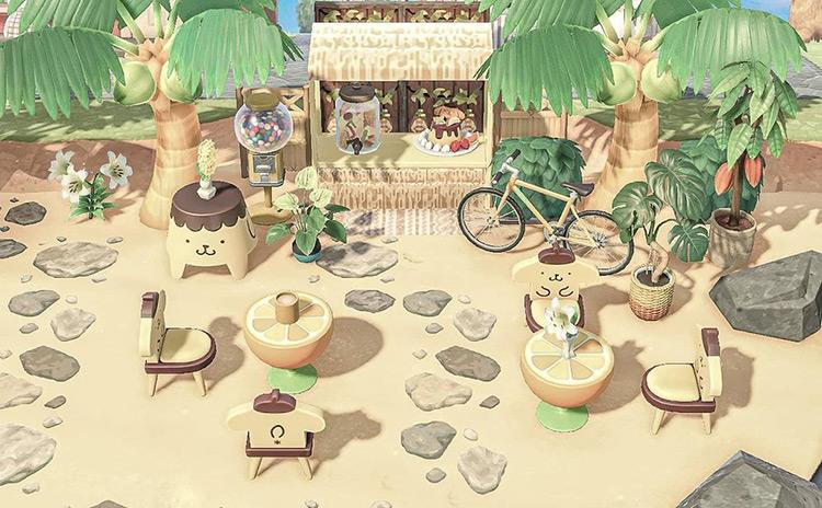 Tiki bar on the beach / ACNH Idea