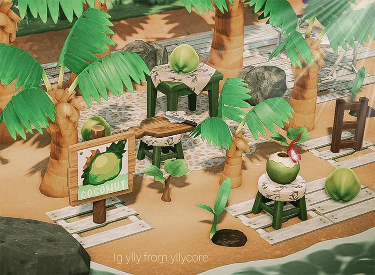 Coconot farm build in ACNH