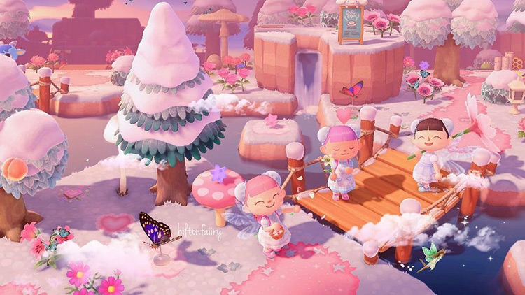 Fairycore winter-themed forest design in aCNH