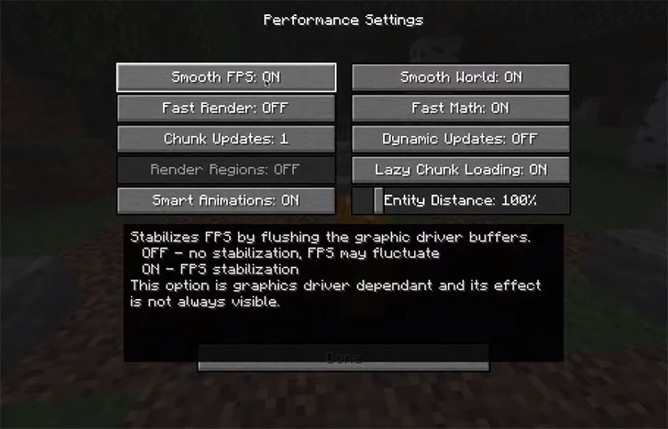 OptiFine QOL Mod Preview for Minecraft