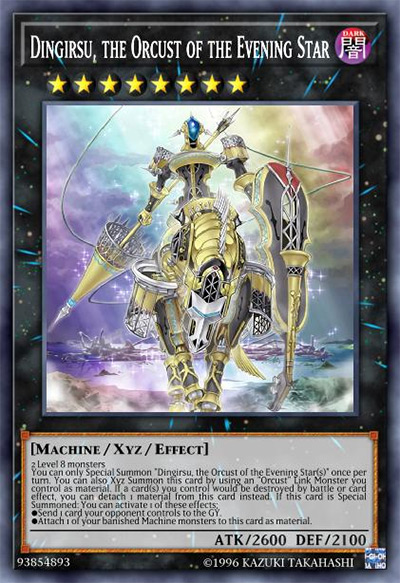 Dingirsu, the Orcust of the Evening Star YGO Card