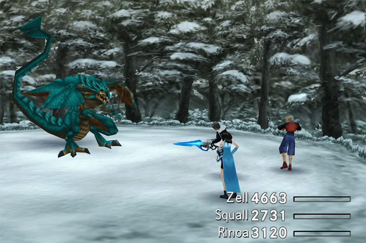 Blue Dragon FF8 enemy