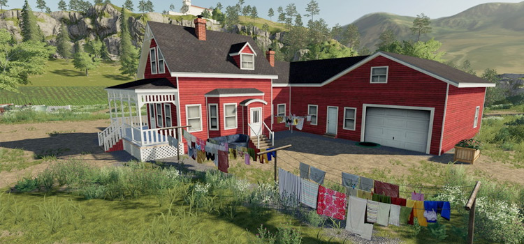West Hills Farmhouse Decorations Pack for FS19