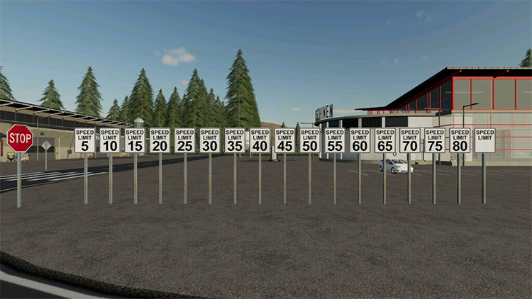 USA Speed Limit Signs for FS19