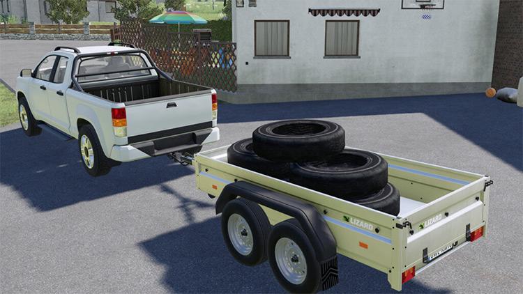 Custom Decorative Tires / FS19 Mod screenshot