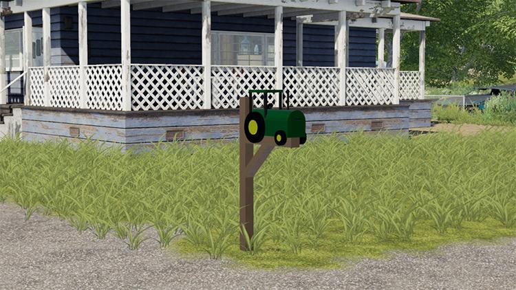 Tractor Mailbox Custom Item / Farming Simulator 19 Mod
