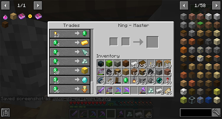 King of the Villagers Minecraft Mod