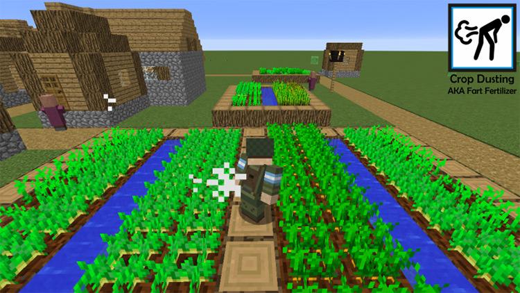 Crop Dusting Minecraft Farting Mod