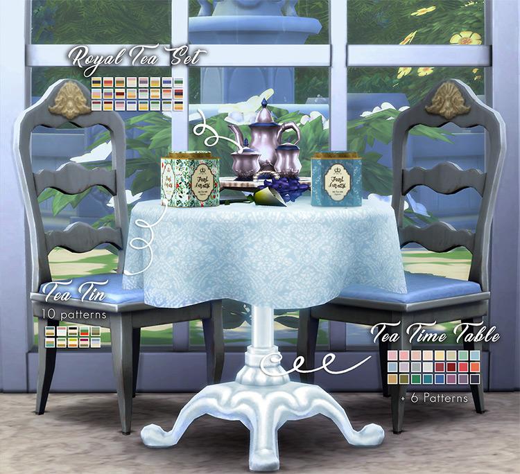 Teanmoon's Tea Party Set / Sims 4 CC