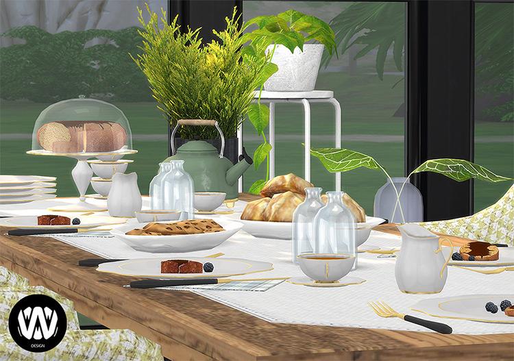 Rubus Tea Time Set / Sims 4 CC