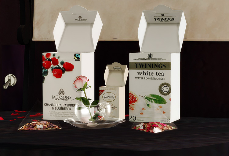 Custom Tea Time Set / Sims 4 CC