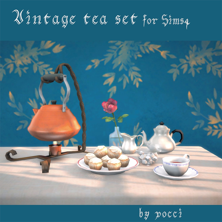 Vintage Tea Set / Sims 4 CC