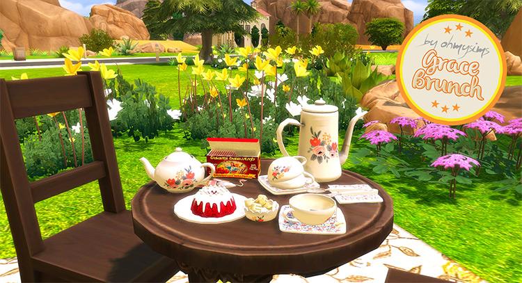Tea Grace Brunch Set / Sims 4 CC