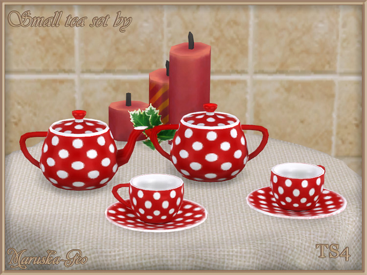 Small Tea CC Set for The Sims 4