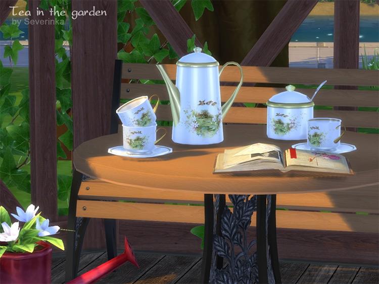 Tea in the Garden Set / Sims 4 CC