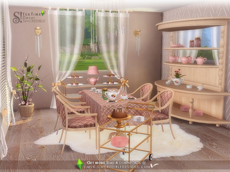 Tea Time Decor / Sims 4 CC