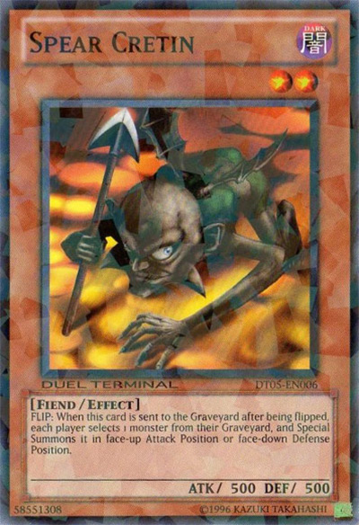 Spear Cretin Yu-Gi-Oh Card