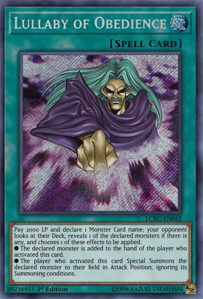 Lullaby of Obedience Yu-Gi-Oh Card