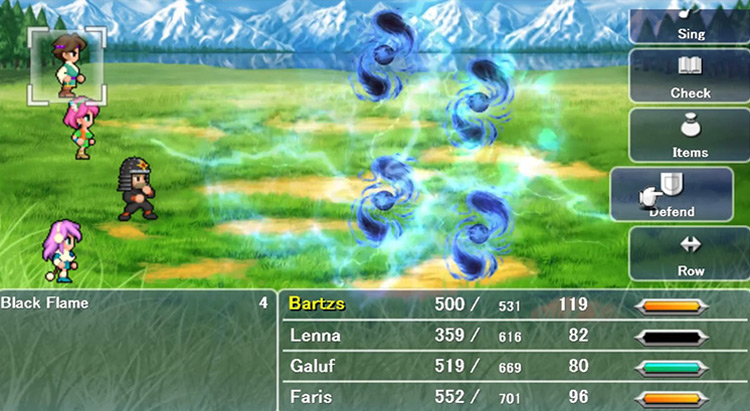 Dual-Wielding Ninja in Final Fantasy V