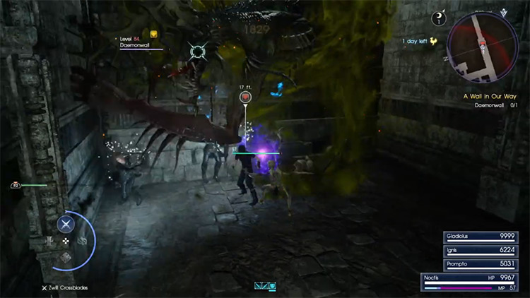 A Wall in Our Way / Daemonwall FFXV Hunt battle