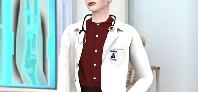 Doctor Coat with Stethoscope / Sims 4 CC