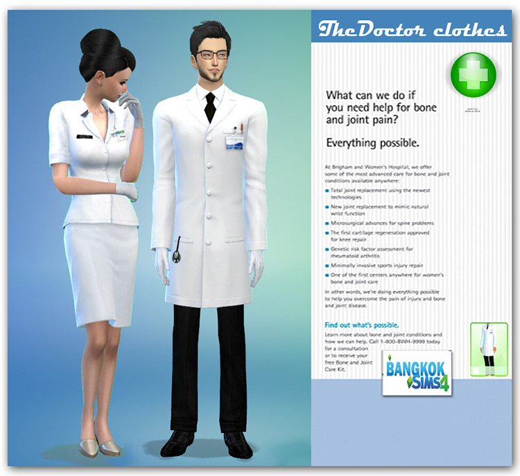The Doctor Clothes Set / Sims 4 CC