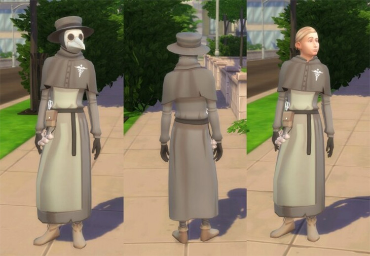 Medieval Plague Doctor Outfit / TS4 CC