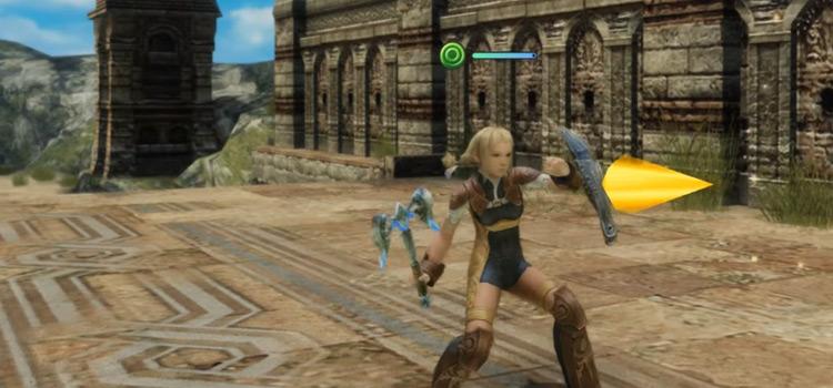 Penelo Axe Battle Pose in FFXII: The Zodiac Age