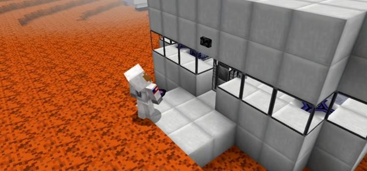 Minecraft Astronaut Skin on Mars