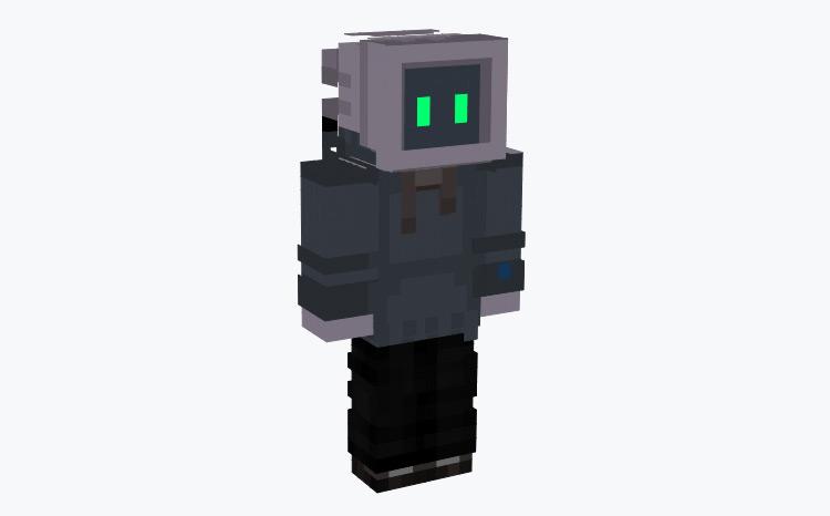 Computer Terminal Head Character / Minecraft Skin
