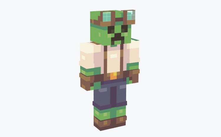 Steampunk Creeper / Minecraft Skin
