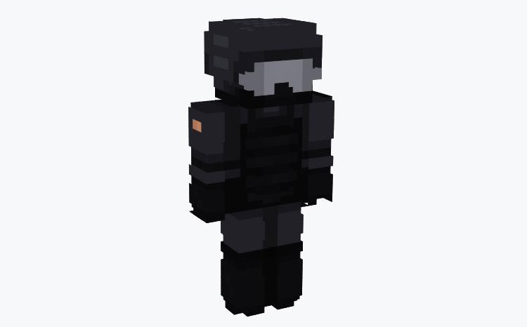 Dark Military Trooper / Minecraft Skin