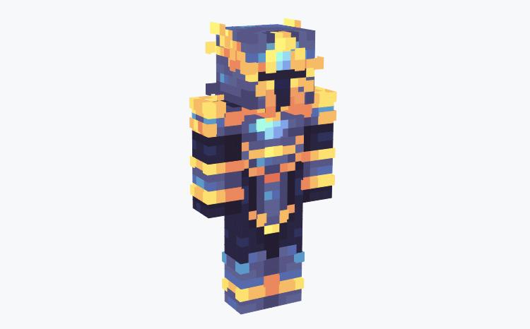 Futuristic Knight in Blue / Minecraft Skin