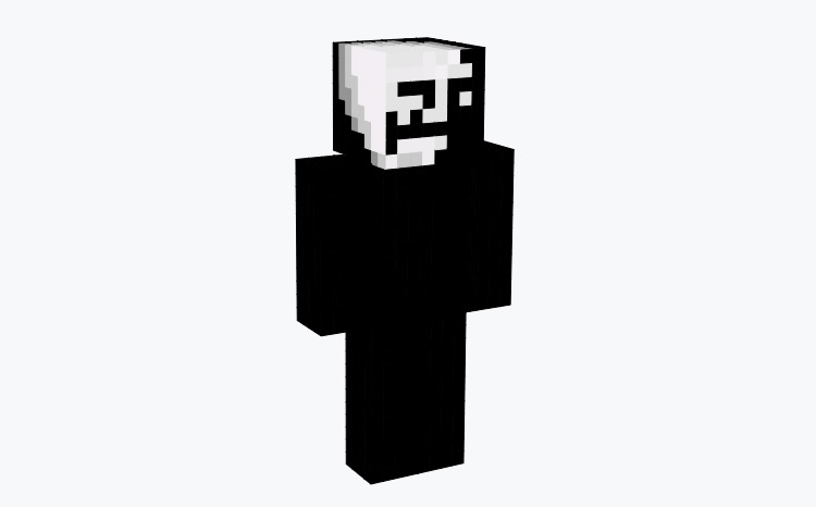 Sad Troll Face Dark Design / Minecraft Skin
