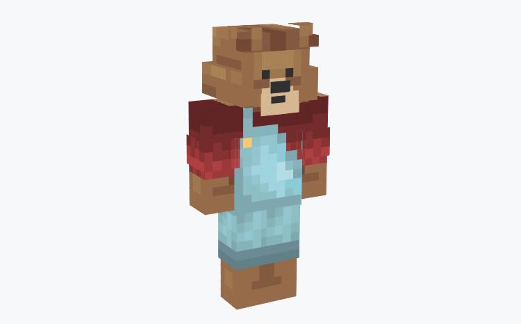 Cute Bear in Overalls / Minecraft Skin