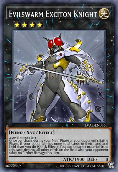 Evilswarm Exciton Knight Yu-Gi-Oh Card