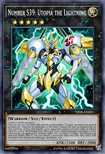 Number S39: Utopia the Lightning YGO Card