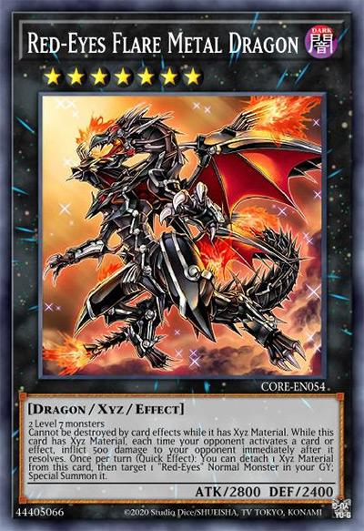 Red-Eyes Flare Metal Dragon YGO Card