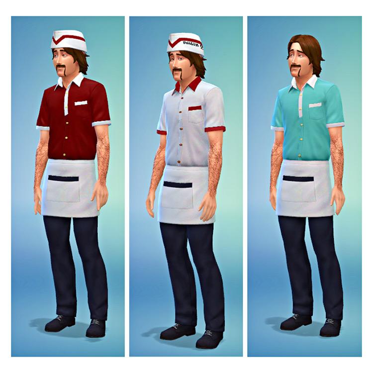 Aramark Diner Uniform Recolors / TS4 CC