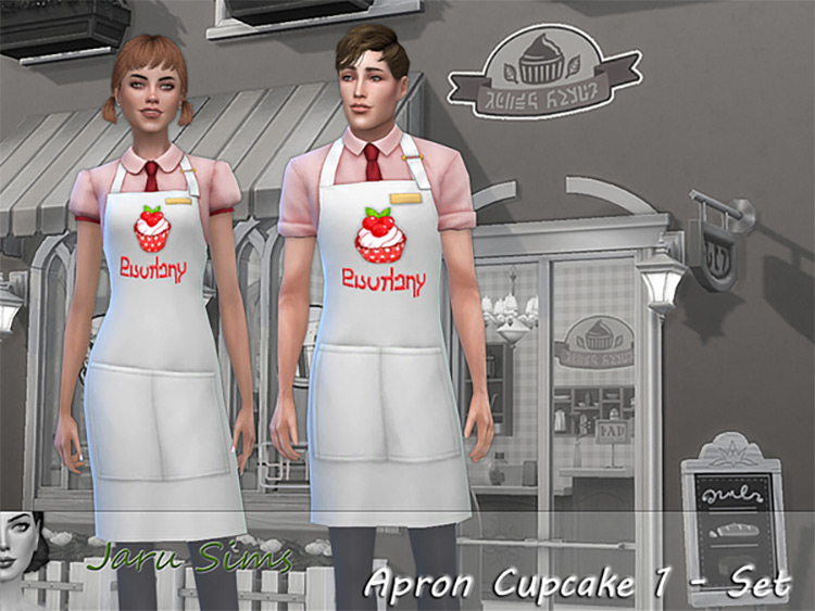 Cupcake Apron CC Set for The Sims 4