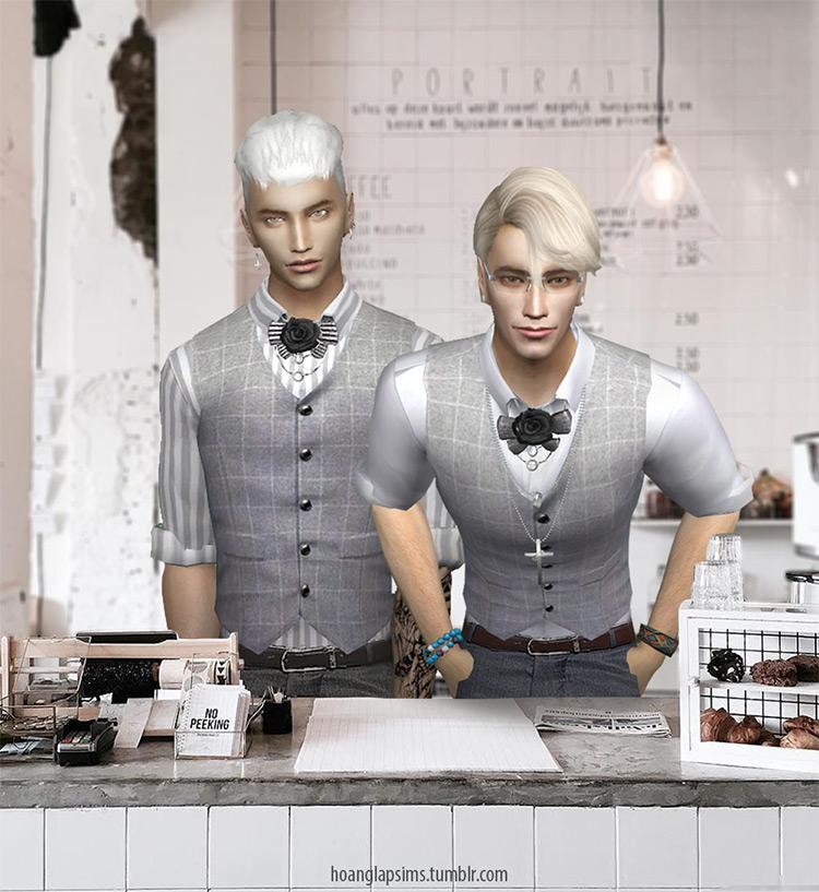 Cute Butler/Waiter Outfit / Sims 4 CC