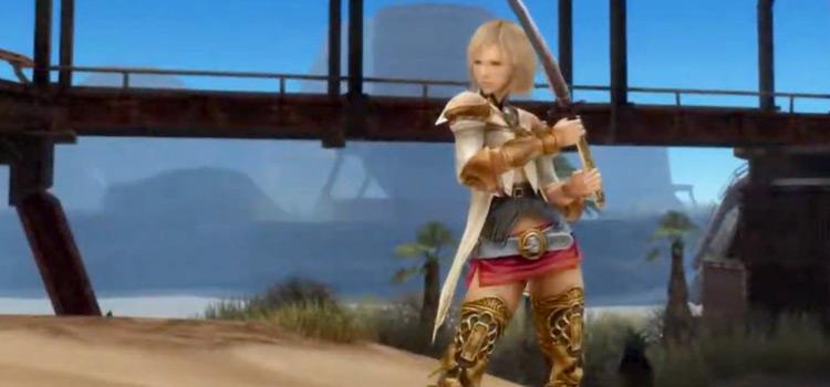 Ashe holding a katana in FFXII: The Zodiac Age