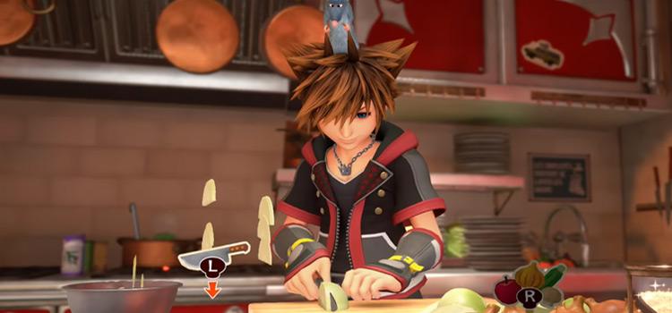 Bistro Cutting Onions in Kingdom Hearts III