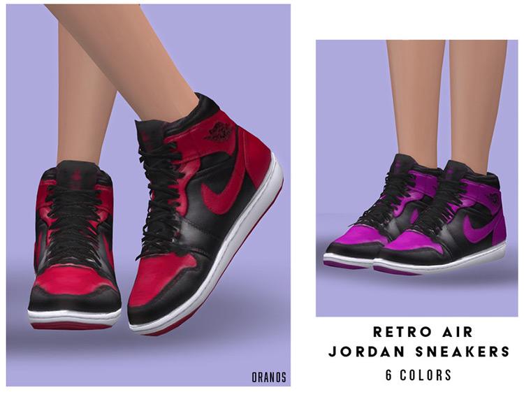 Retro Air Jordans Sneakers / Sims 4 CC