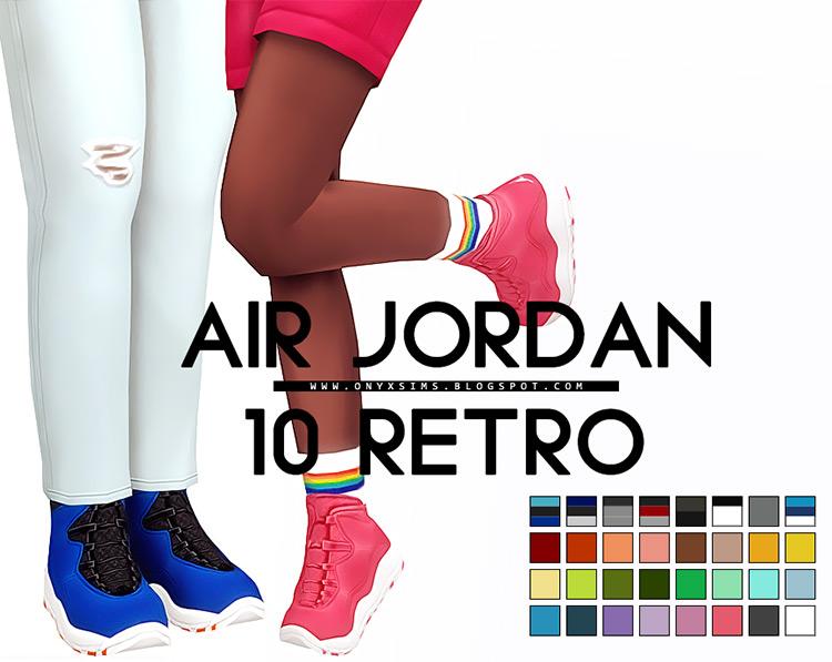 Air Jordan 10 Sneakers / Sims 4 CC