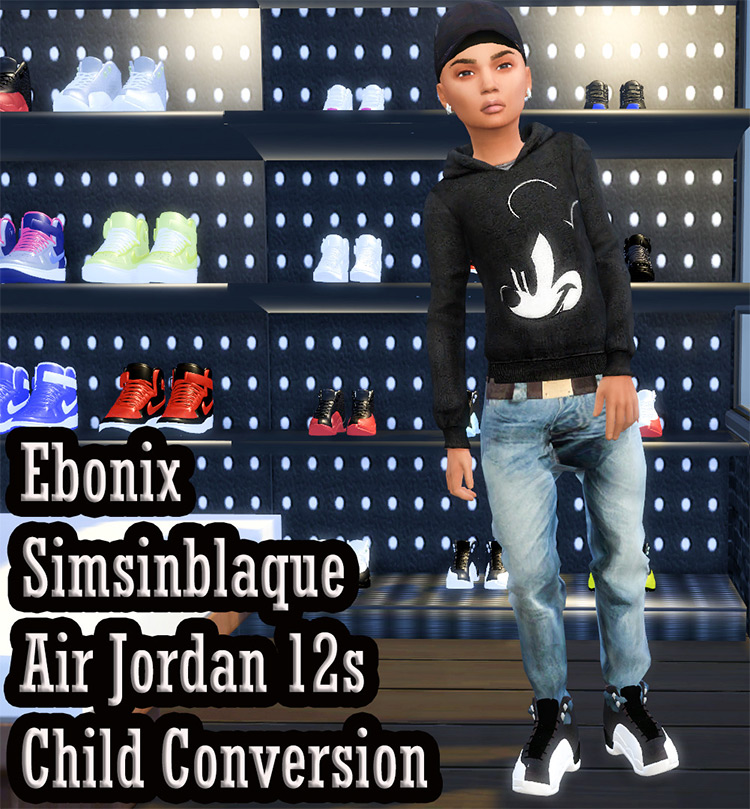 Air Jordan 12s for Children / Sims 4 CC