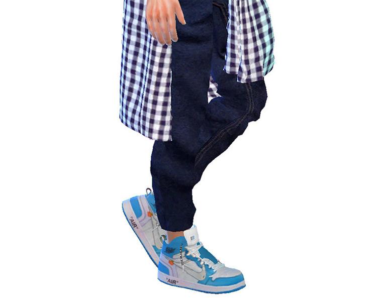 Nike x Virgil Abloh Air Jordan 1 Sneakers / Sims 4 CC